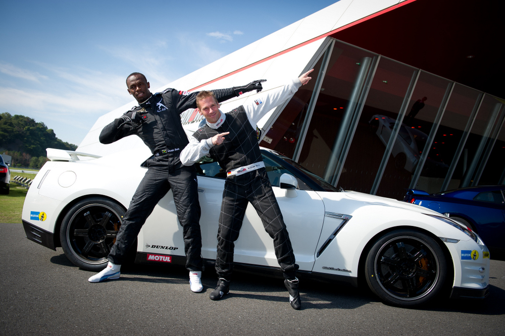 YOKOHAMA, Japan (Oct. 11, 2012) - Jamaica's multiple gold medal winner Usain Bolt stopped at Nissan's GranDrive testing track and Yokohama headquarters Thursday, bringing his record-making speed and excitement to Japan.