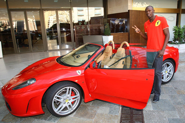 Usain Bolt Ferrari